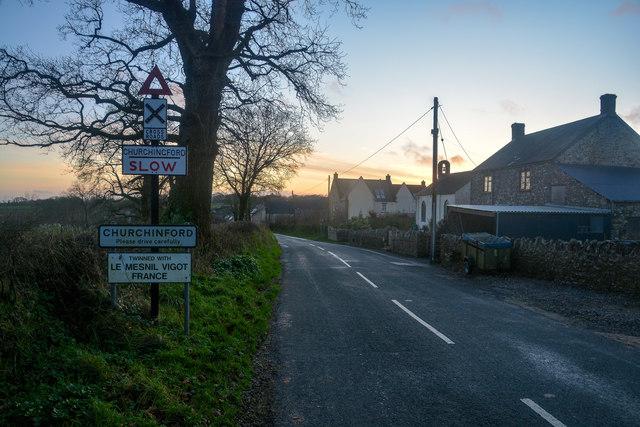 Churchinford : Road
