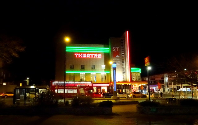 Stephen Joseph Theatre by night