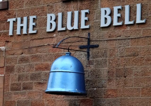 Sign for the Blue Bell Inn, Annan
