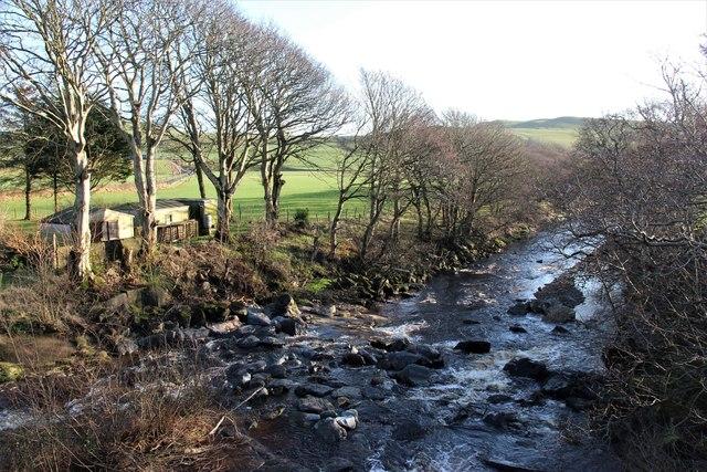 Breackerie Water below Lephenstrath Bridge
