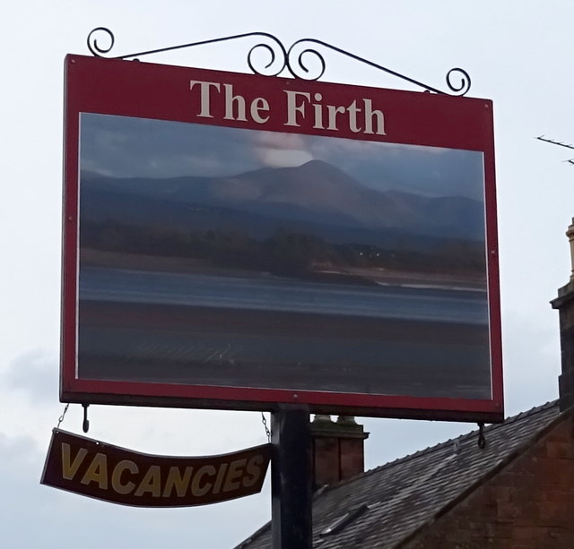 Sign for the Firth Hotel, Annan