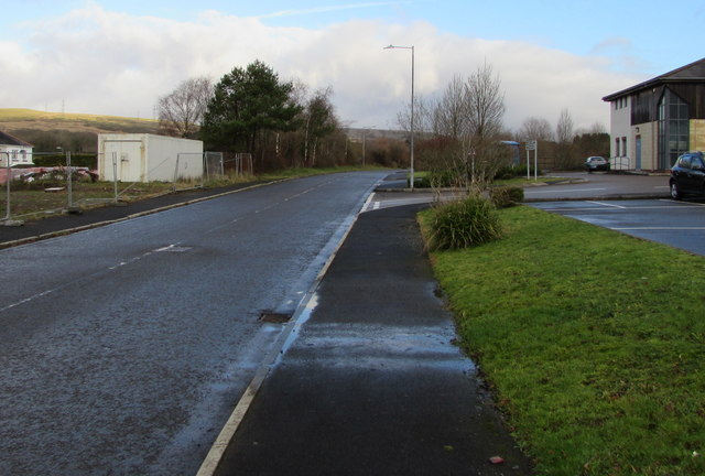 Access road to Dulais Valley Primary Care Centre, Seven Sisters