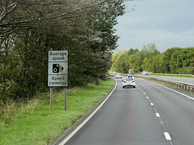 Northbound A77