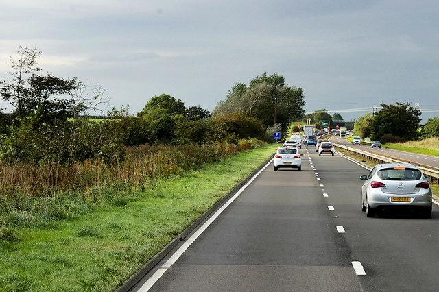 A77 Northbound near Monkton