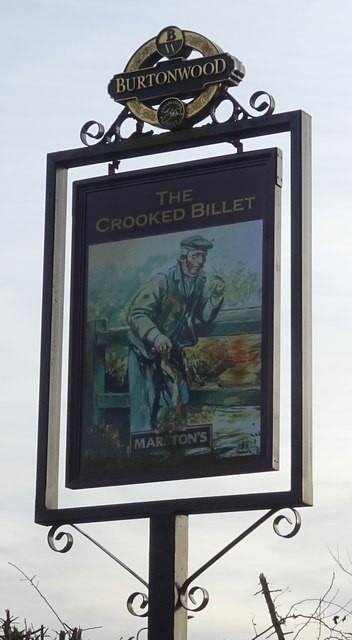 Sign for the Crooked Billet, Ryehill