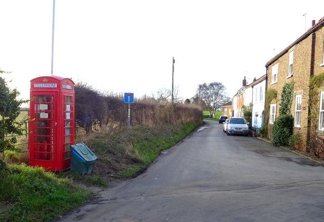K6 telephone box on Marsh Lane, Ryehill