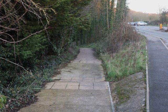 Path by Watlington Road, Lewknor