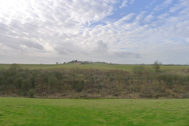 Looking south-west over the embankment of the former Melton Mowbray to Medbourne Railway line