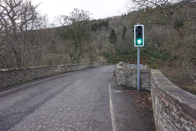 A707 at Yair Bridge