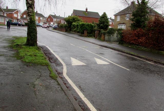Speed bump across Templeway West, Lydney