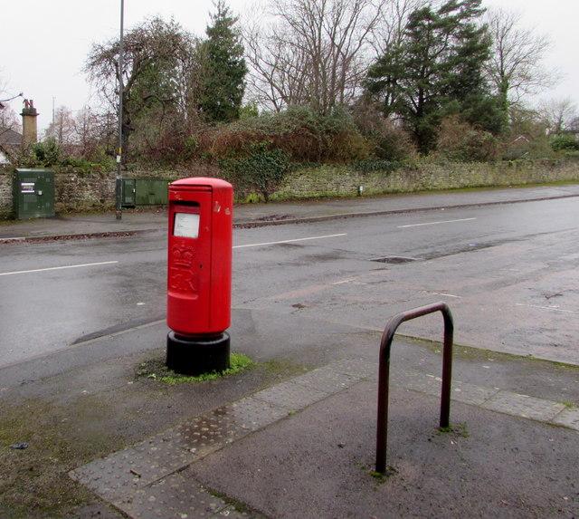 Queen Elizabeth II pillarbox, Templeway West, Lydney