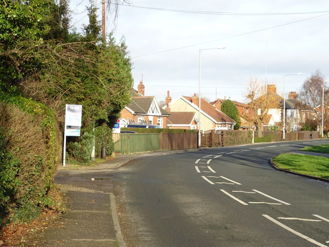 Bend in Thorn Road (B1240), Hedon