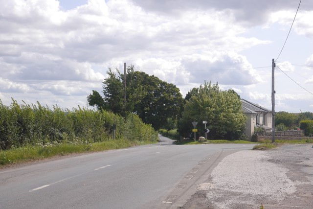 Road junction by the Amberley Arms