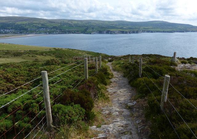 Pembrokeshire Coast Path at Pen Morfa