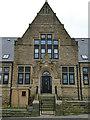 SE2627 : Peel Street Board School, Morley  main entrance by Stephen Craven