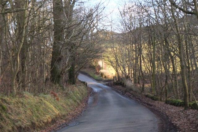 Minor road at Shiel Burn