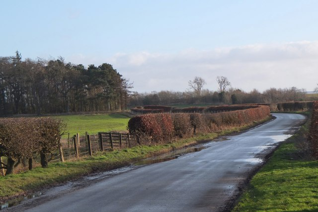 Minor road near Broachrigg