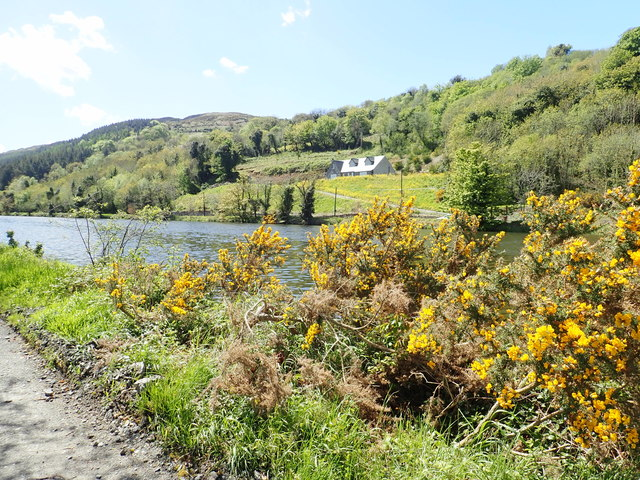 House on rising ground above the Newry Canal