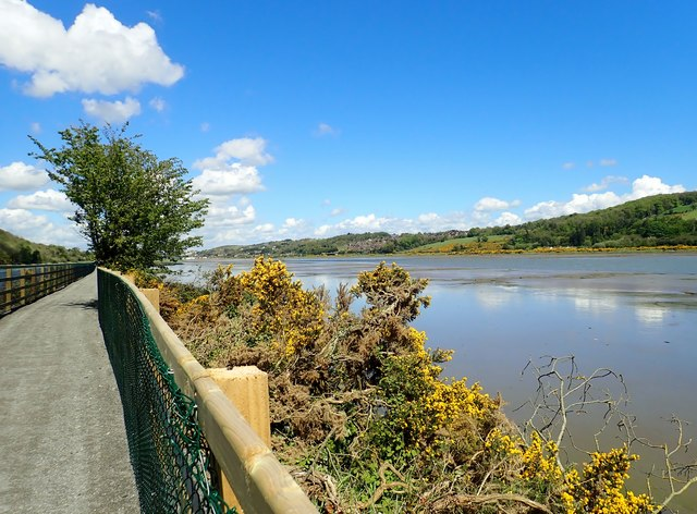 View NNE up the Newry River Estuary