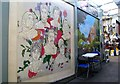 TG2208 : Norwich Market - murals by Evelyn Simak