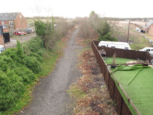 Site of Leamside Station - rails removed