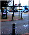 SS7597 : BT phonebox outside Neath railway station by Jaggery