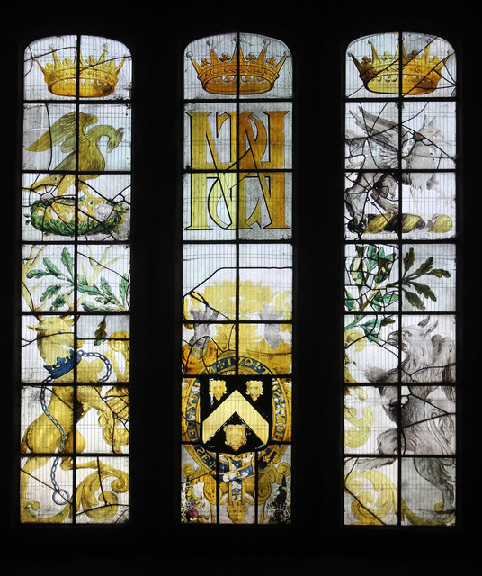 Stained glass in the old church at Wentworth
