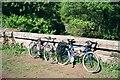 SO6114 : Bikes on Mierystock bridge by John Winder