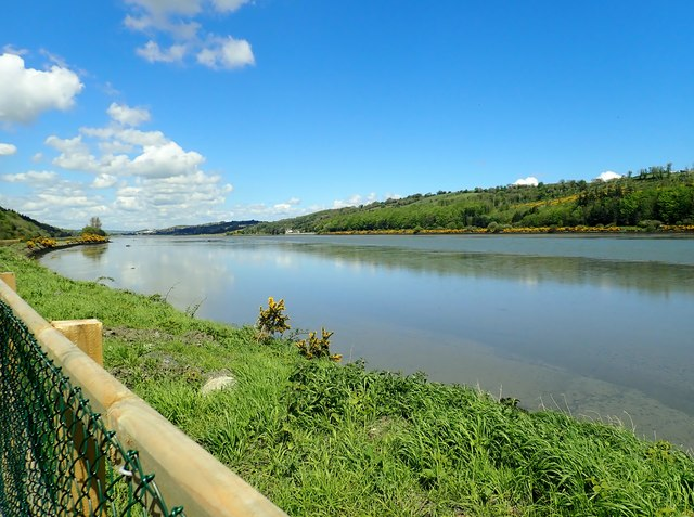 View up the estuary of the Newry River