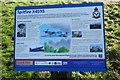 TL2089 : Information board at Holme Fen (Spitfire X4593) by Adrian S Pye