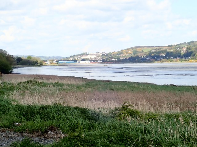 Exposed mud flats in the Newry River estuary at Low Tide