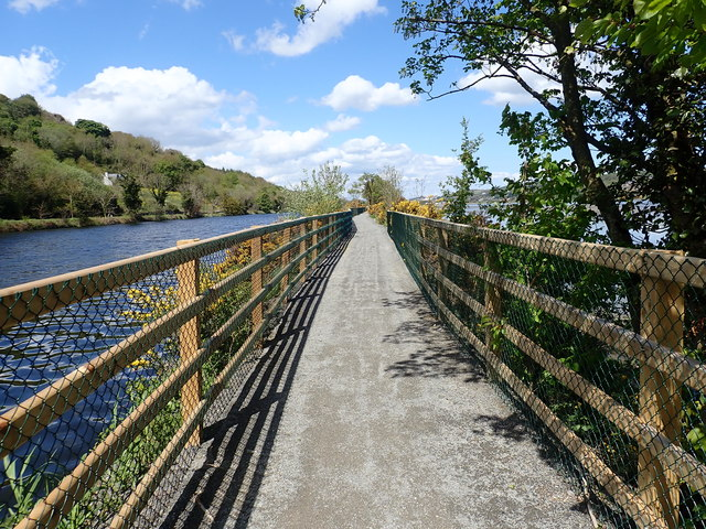 View North along the Newry Greenway