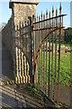 SX9066 : Gate, Torquay Cemetery by Derek Harper