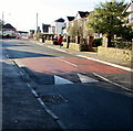 ST4888 : Church Road speed bump, Caldicot by Jaggery