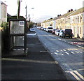 SN8209 : X8 bus stop and shelter, Mary Street, Seven Sisters by Jaggery