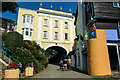 SH5937 : The Bridge House and Toll House at Portmeirion by Jeff Buck