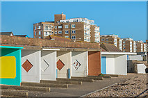 TQ7306 : Beach huts by Ian Capper