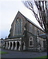SS7597 : West side of St David's Church, Neath by Jaggery