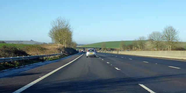 Westbound M4