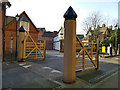 SK5639 : Gates on Peveril Drive, Nottingham by Stephen Craven