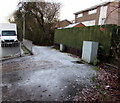 ST3391 : Frosty pavement, Ponthir Road, Caerleon by Jaggery