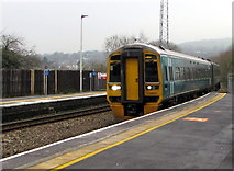SS7597 : Manchester Piccadilly train arriving at Neath station by Jaggery