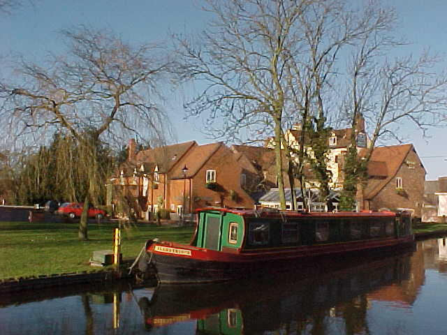 Looking across the Grand Union Canal to the Heron's Nest