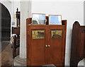 TM0780 : Memorial cupboard at Bressingham by Adrian S Pye