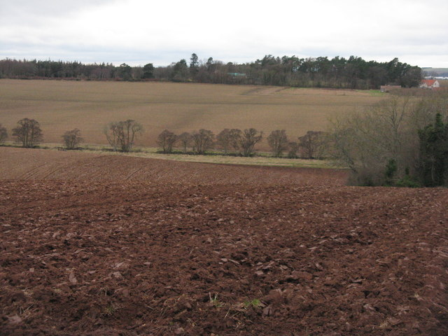 Ploughed fields at Morham Bank