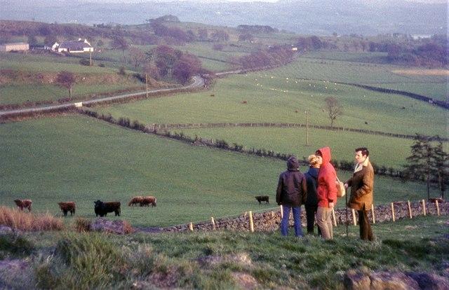 Sandiestone Farm from Knockmade Hill