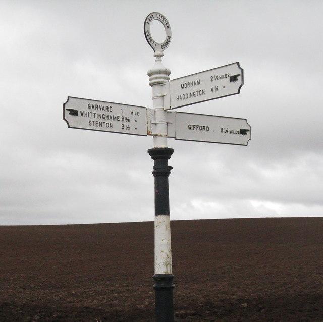 East Lothian County Council signpost