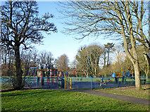SO9095 : Playground in Muchall Park, Wolverhampton by Roger  Kidd