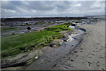 NU0052 : Low tide at Meadow Haven by Walter Baxter
