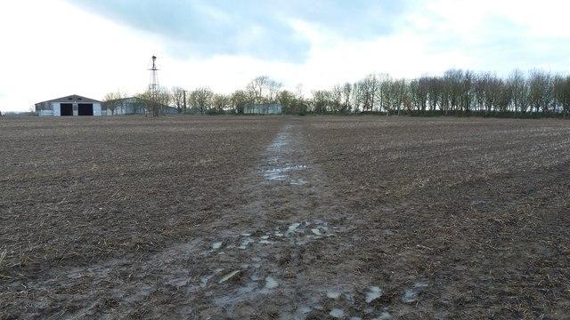 Path by Helsthorpe Farm